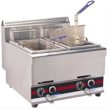 Commercial Two Tanks Stainless Steel Gas Deep Fryer Chicken Fryer