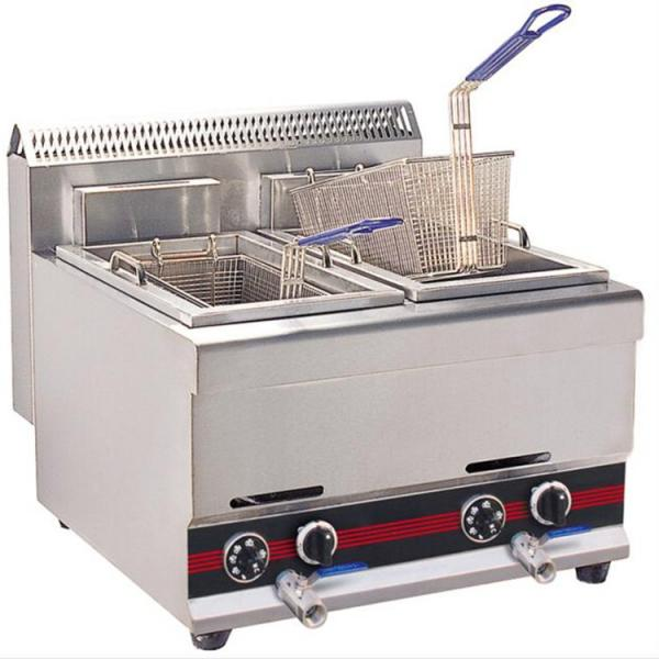 China Manufactured 304ss Commercial Cooking Equipment Electric Gas Fryer